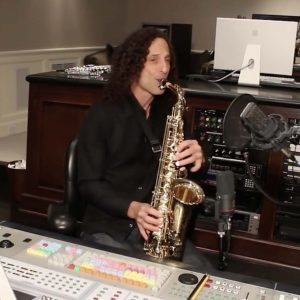 Kenny G in studio for CD recording 1.1